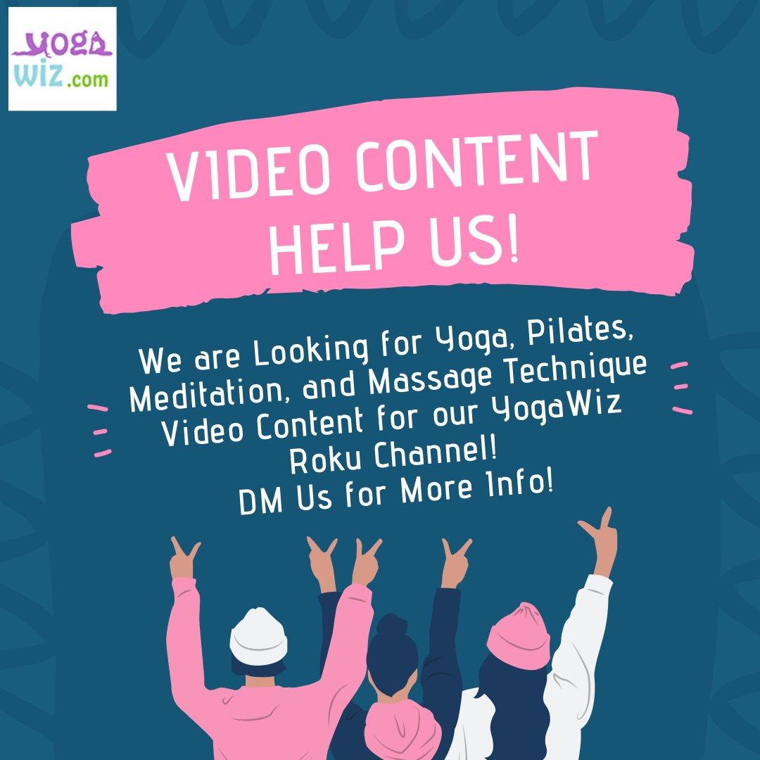 Calling All #Yoga, #Pilates, and #Massage #Therapist We need your #Help!  DM us for more info!   #yoga #yogi #yogalove #yogainspiration #yogagirl #yogachallenge #yogalife #igyoga #yogapractice  #yogaeveryday #instayoga #pilatesinstructor #yogateacher #small #business #rokupic.twitter.com/YvYfD5afGT