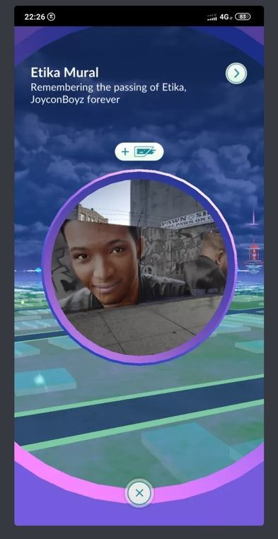 IT HAPPENED!!! THE ETIKA MURAL IS NOW A POKÉSTOP IN #PokemonGO!!! #JOYCONBOYZFOREVER https://t.co/xa6QduU3kS https://t.co/rHFm5qFGBa