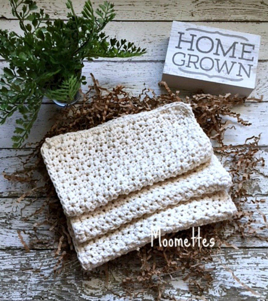 Set of 3 Handmade #Kitchen Dish Light Beige Cream Cotton Dish Cloths https://buff.ly/30z5Ddg  #moomettescrochethsop #shabbychic #farmhouse #hostessgift #bridalshower #housewarming #springdecor #Easter #giftideaspic.twitter.com/DXPrzDVYJW