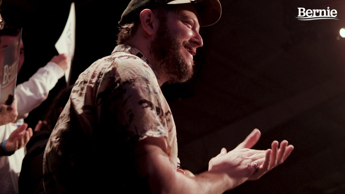 """Let's really get the power back in the people's hands... Bernie refers to himself as the organizer-in-chief. That's what we need, is to build a team."" –Justin Vernon of @boniver"