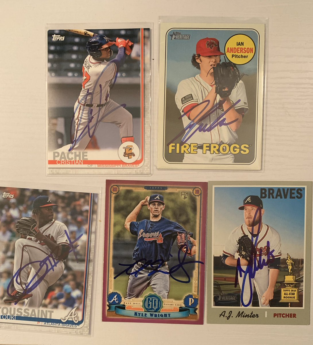 Updated available cards. #baseballcards #braves