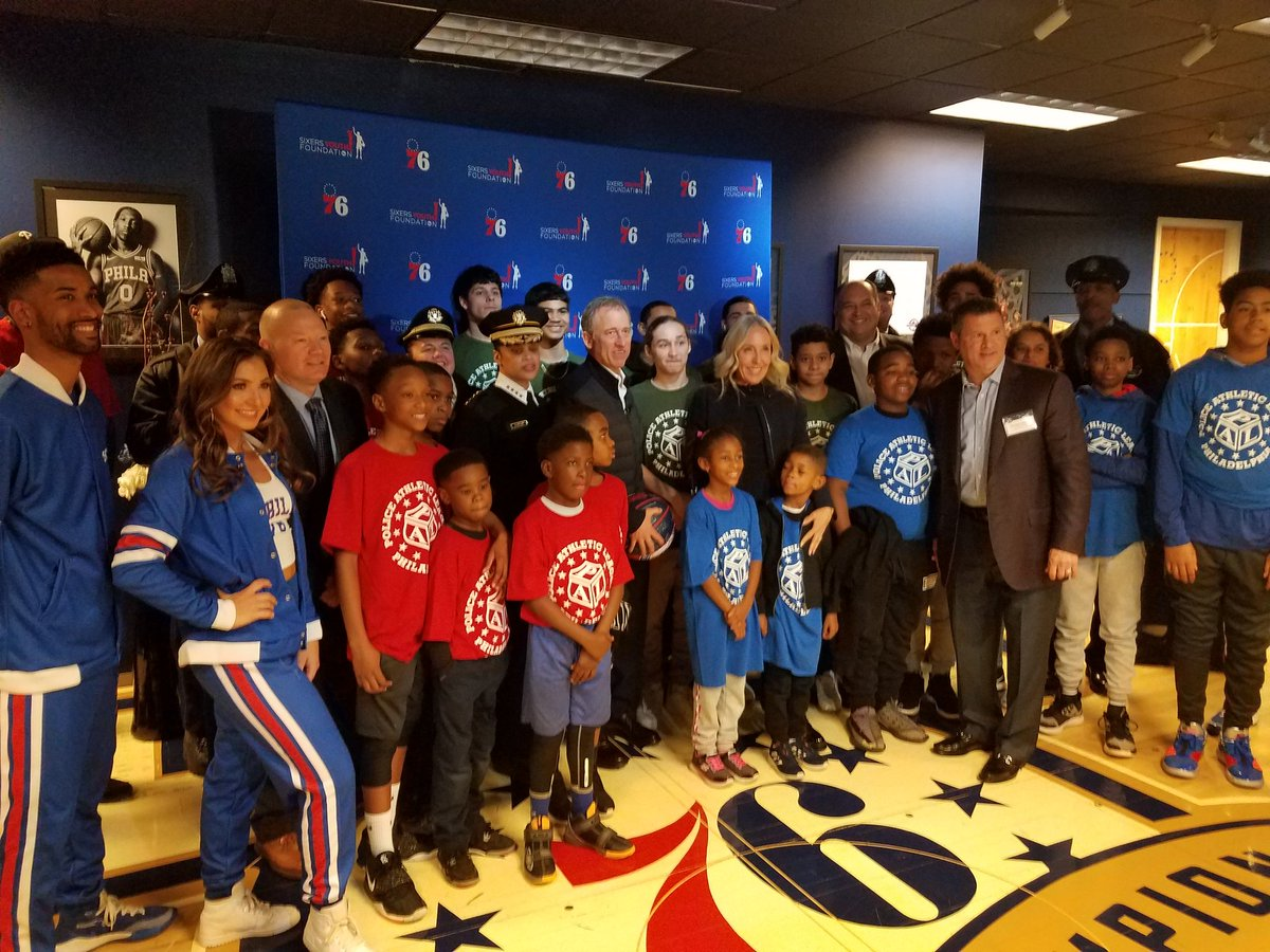 Happy to attend the Annual @PhillyPolice Police Athletic League night at the 76ers. @PhillyPAL