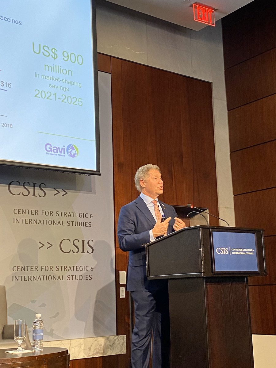 Excellent discussion at @CSIS  @MorrisonCSIS  reflecting on USs critical role in shaping @gavi s past, present & future. The US isn't simply a donor but a true partner. We look forward to continued collaboration to #ProtectTheNextGeneration  & make the world safer & healthier.