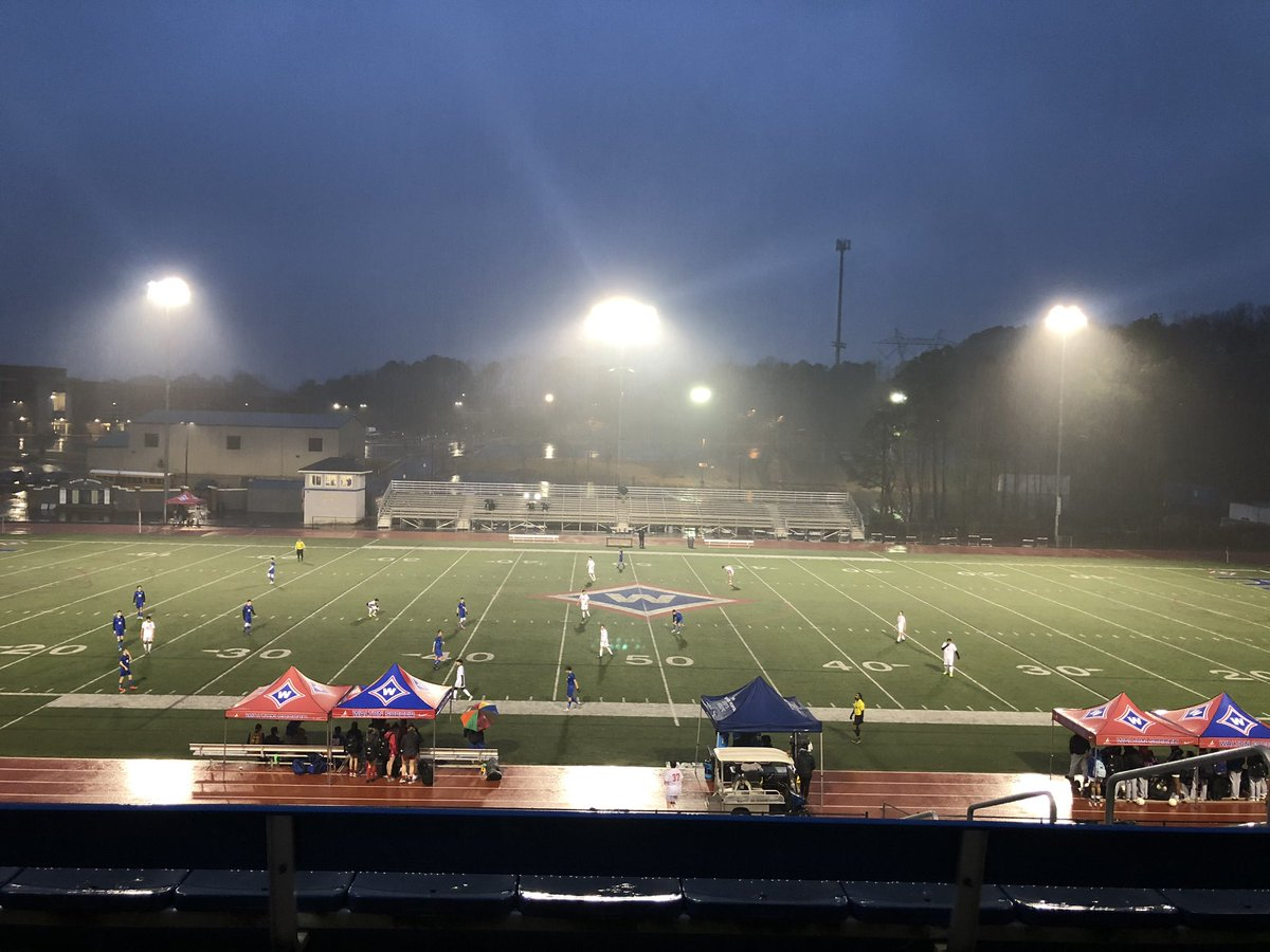 Another wet one for the JV boys! Tied Riverwood 0-0. @WHSRaiderFans