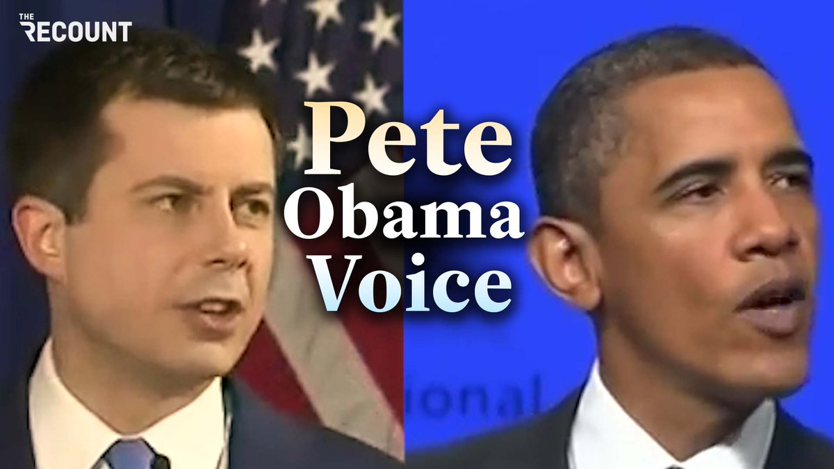 If imitation is the sincerest form of flattery, then @PeteButtigieg must really be trying butter up @BarackObama.