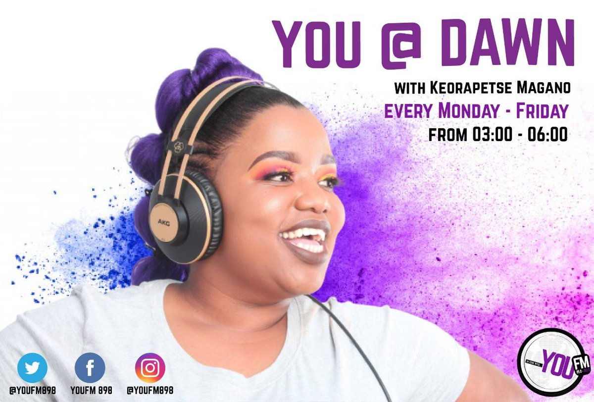 The break of dawn belongs to you and @VillagePrincezz on #YOUAtDawn  IN TUNE WITH YOU  DSTV Channel 842  #CelebratingYOU #YOUInspireUs