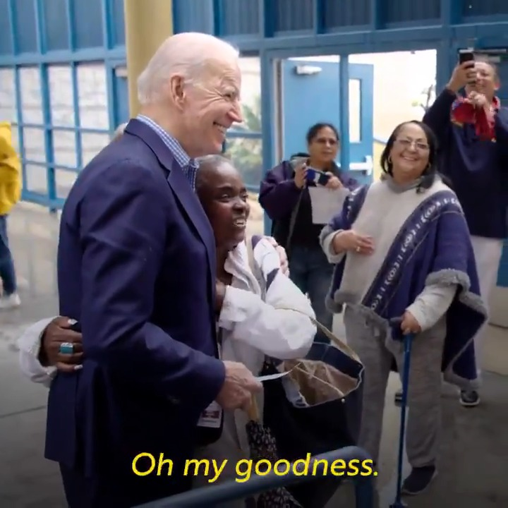 this lady is me whenever @JoeBiden comes on one of the three cable TVs I watch all day