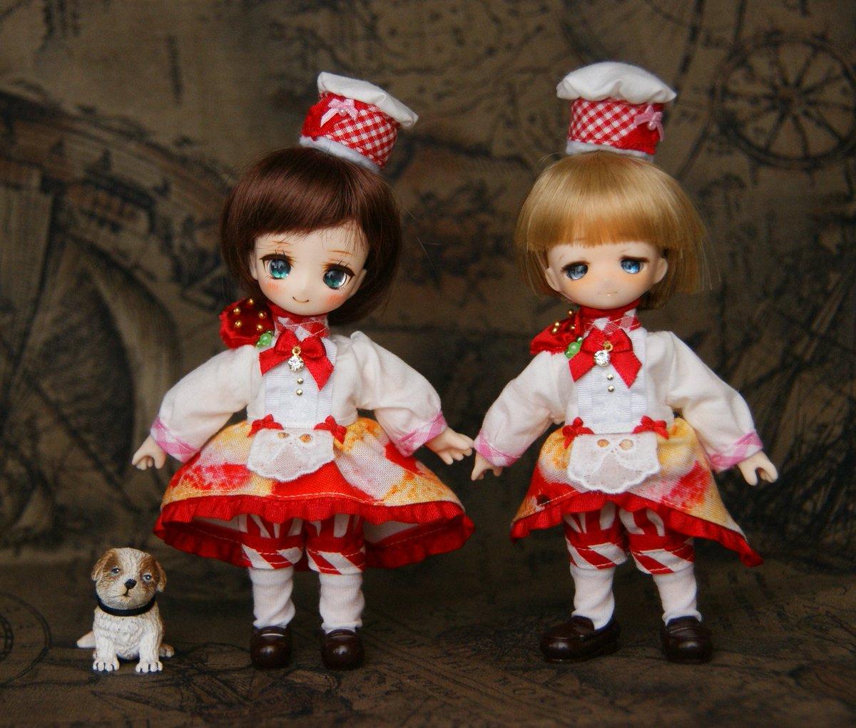 ショートケーキのお洋服  #OBドール #OBヘッド #クルスドール #みゅ~らぼアイ #valentine #バレンタイン #ジュエルドール #シトリンヘッド #星空工房 #オビツ11 #obitsu11