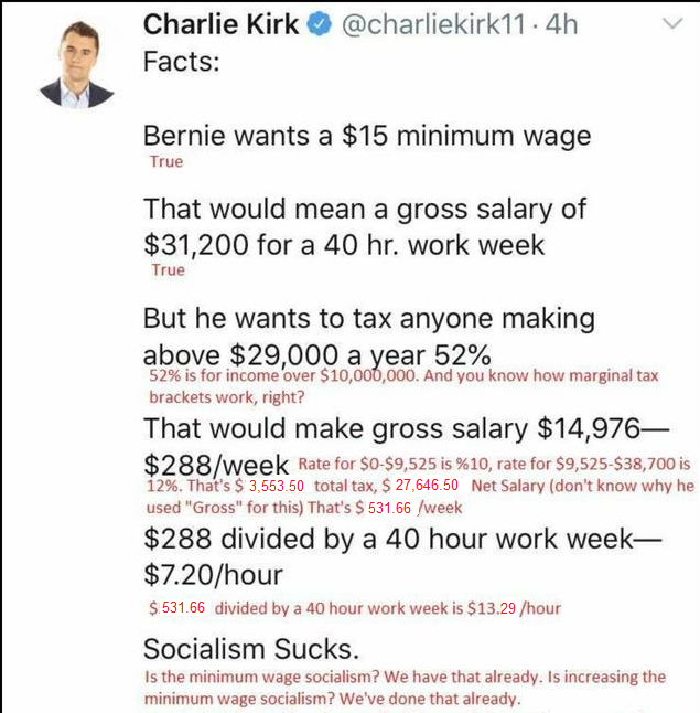 "Although Bernie appears to be decimating his own party by declaring to start a defacto ""movement"", it would always remain a mystery if @charliekirk11 is really THIS stupidpic.twitter.com/zM670Cy25Y"