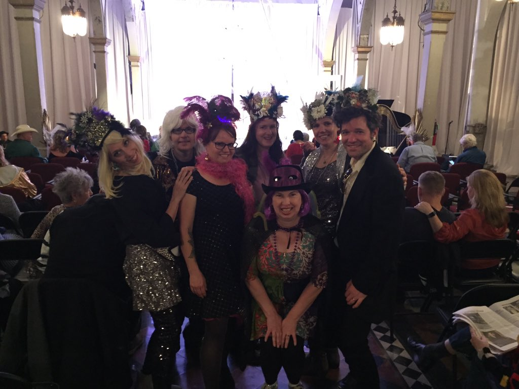 Vaude d'Gras with my krewe at the Marigny Opera House. #MardiGras2020 #Big5ohpic.twitter.com/YSgaip7TYB