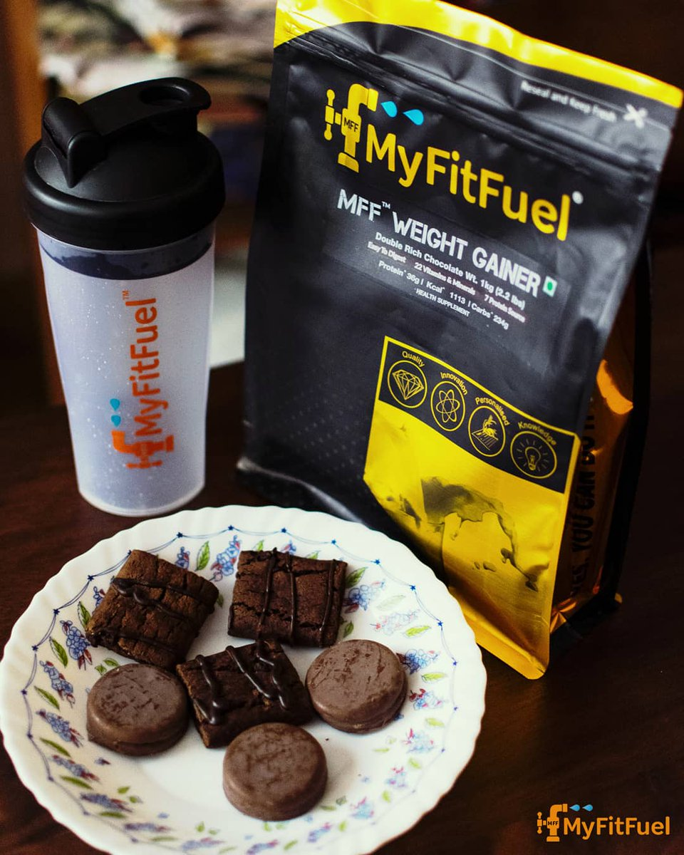 Chocolate is good for health 😉 If it's MFF Chocolate 💪🍫 . Get yours chocolatey fitness NOW🏃♀️ Visit: http://myfitfuel.in Or download the Myfitfuel App (Link in bio☝🏼) . #myfitfuel #TeamMFF #vegan #ultrainstinct #MFF #fitness #gym #workout #fit  #chocolate #exercise
