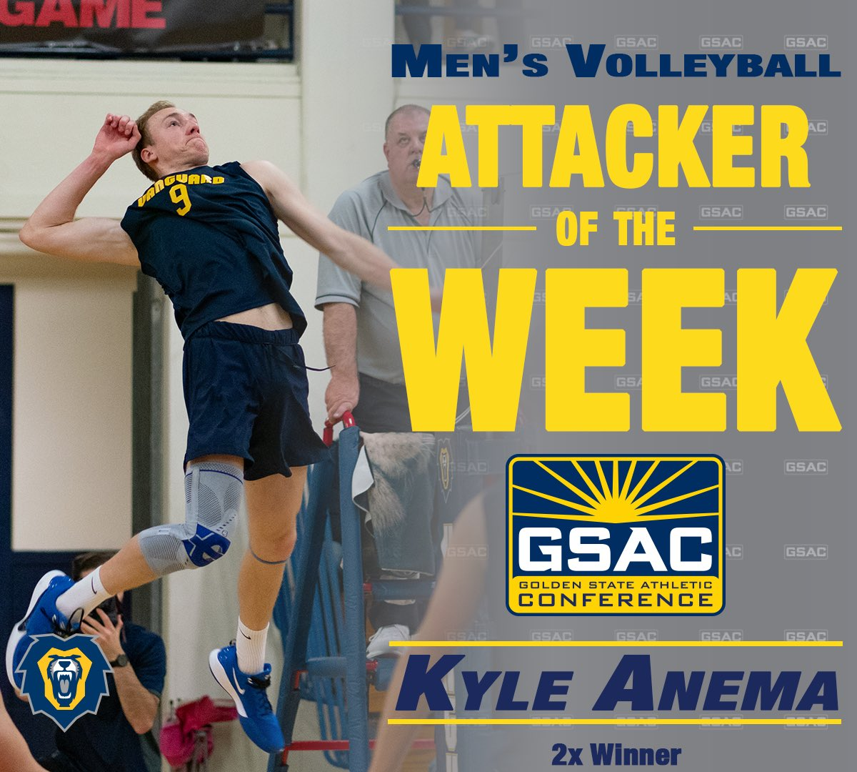Here are your M🏐 Players of the Week. Kyle Anema and Bryce Thompson repeat as winners and Josh Sullivan picks up his first award of the season ‼️ #POTW #GSAC #NAIA
