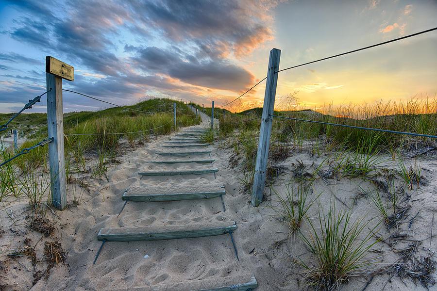 """Path Over The Dunes""  #photography #photo #PureMichigan #Michigan #Beach #Sunset"
