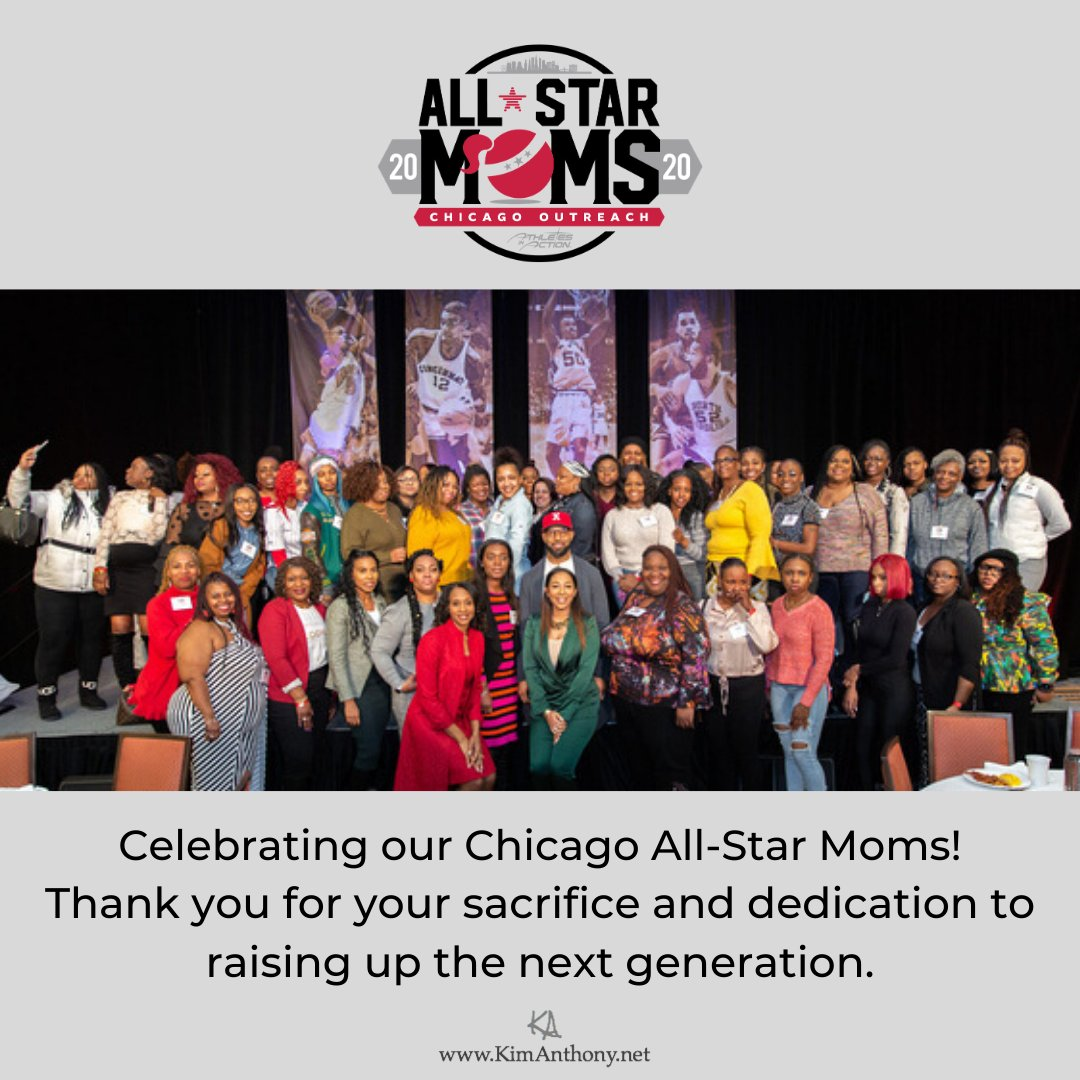 So happy to have been a part of providing inspiration, encouragement and connections to ongoing resources and support for 60 single mothers from Chicago. #AllStarMoms #nbaallstarweekend
