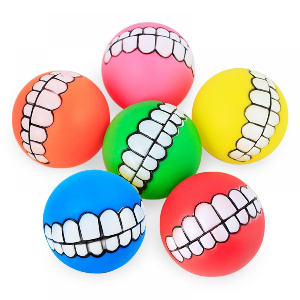 #design #sale Funny Dog Ball with Teeth