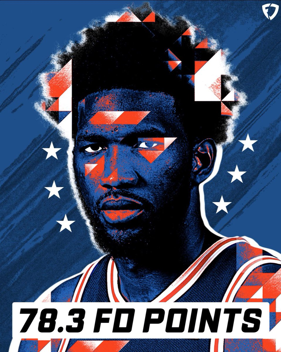 Embiid just torched the Hawks for a career-high 49 points 🔥   Was he in your lineups tonight? 👀