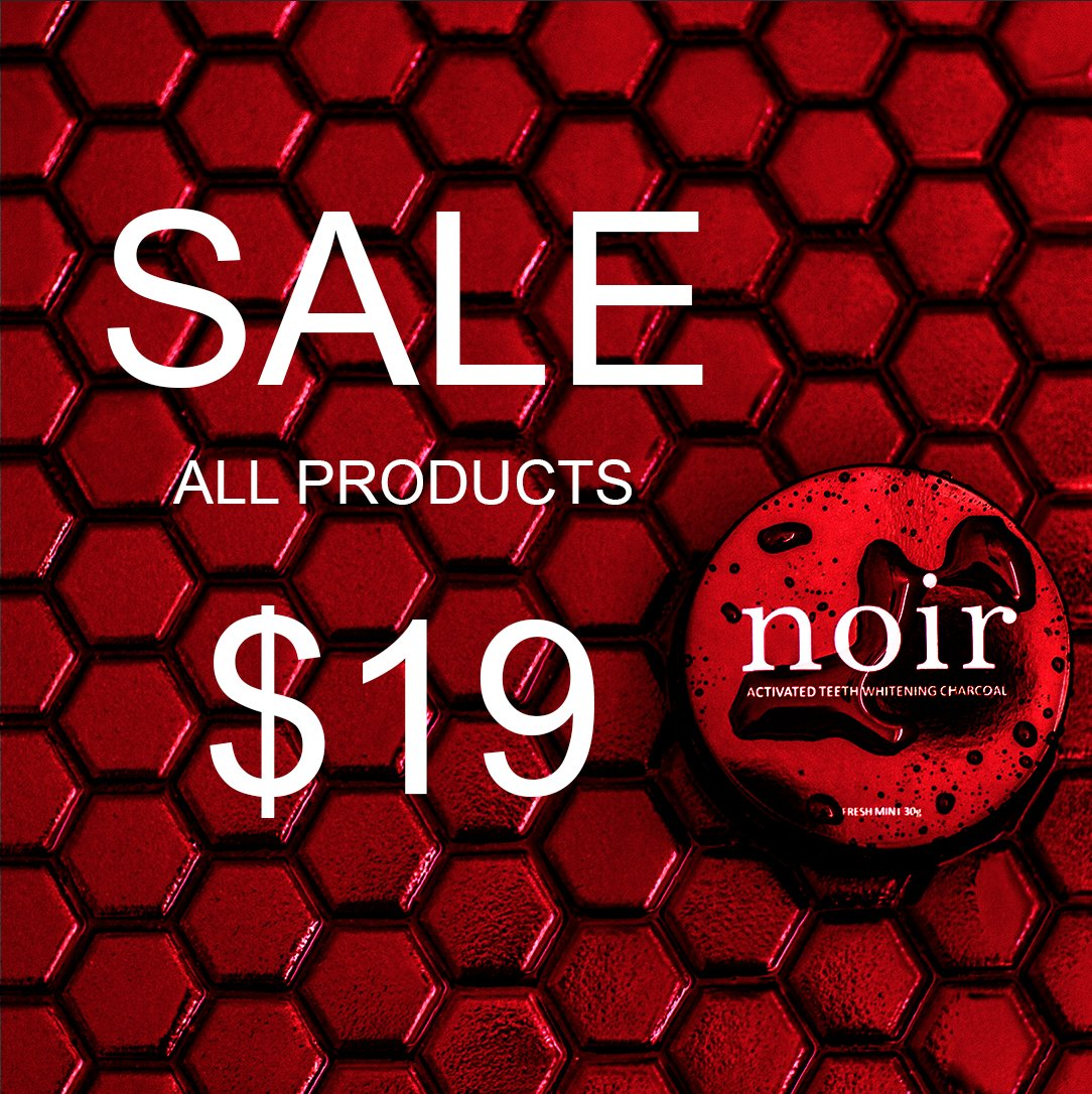 SALE NOW ON! ALL PRODUCTS NOW $19!  HURRY WHILST STOCKS LAST!  T&C'S on website.  #sale #teethwhiteningsale #teethnoir #dailydeal #dealoftheday