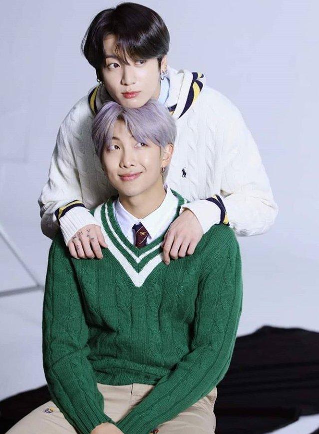 cute leader & cute Maknae😘 @BTS_twt  #防弹少年团  #RM  #JUNGKOOK  #happy #Smile