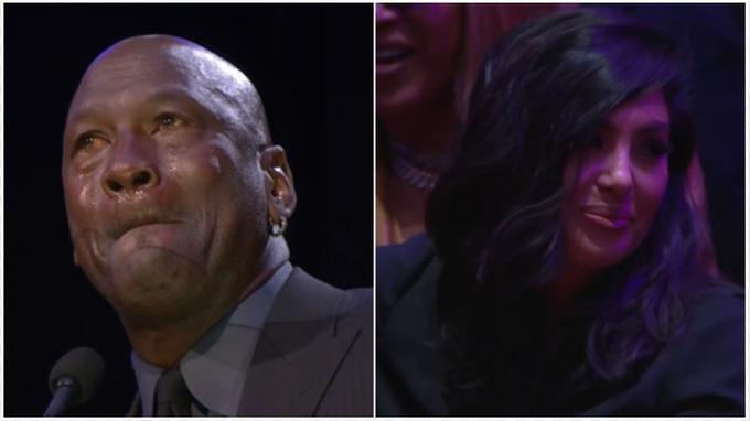 【影片】這一幕太暖心!Kobe追思會喬神的一句話自黑,連悲傷的瓦妮莎都被逗笑了!