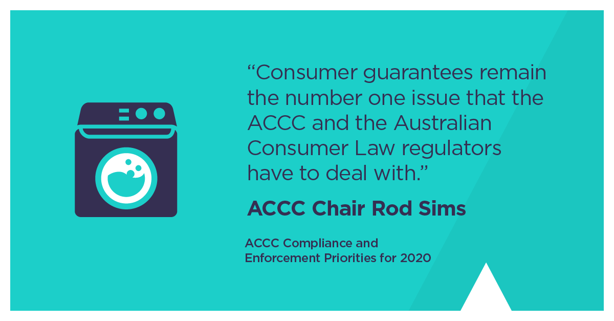 We will work to educate and empower consumers to enforce their consumer guarantee rights, while also improving industry compliance. Full list here accc.gov.au/speech/accc-20…