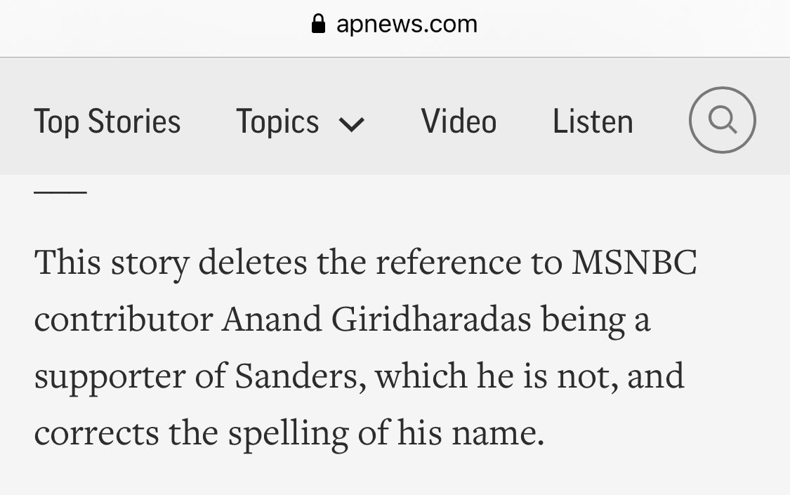 Anano, Sanders supporter, is no more. Anand, freethinking writer, is back.