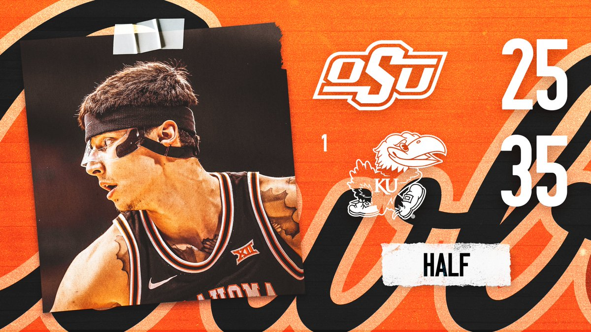 Halftime in Lawrence.   #LetsWork | #GoPokes<br>http://pic.twitter.com/xwfsOlRz3Q