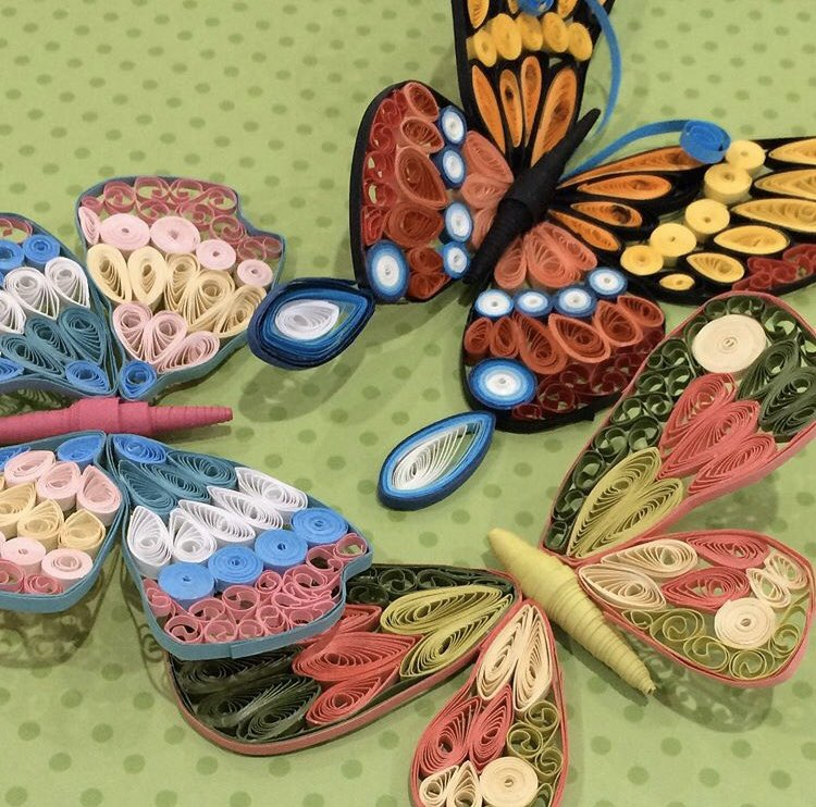 All women are welcome to at Women's Wisdom.  Come learn the quilling arts with @beshaeraljawad on Friday mornings through March! #paperart #art #empowerwomen #nonprofit.