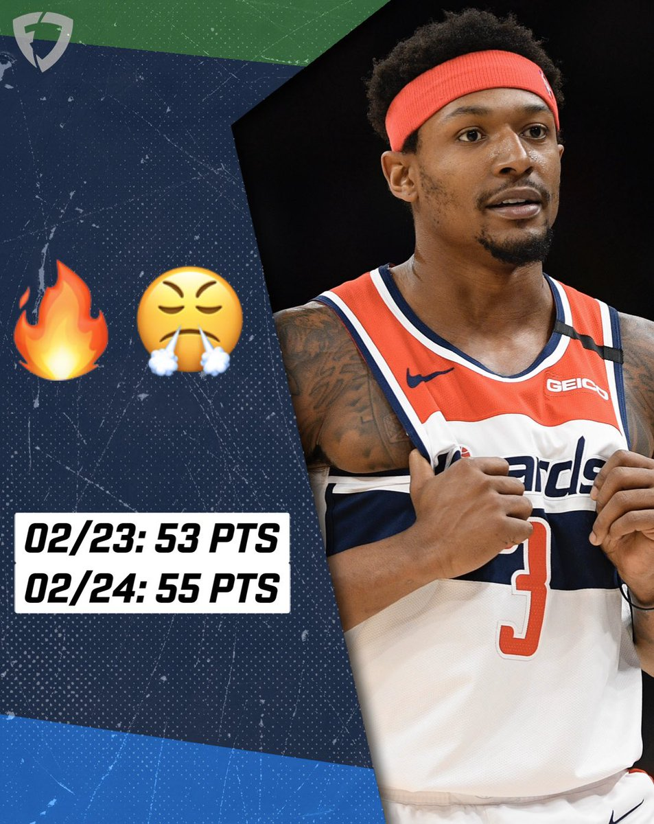 Bradley Beal just dropped 108 points in two nights 🤯   The Wizards went 0-2