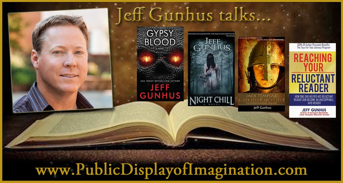His 11 yr old son didn't like reading, so he started writing a YA book series to spark his interest. Author @Jeffgunhus talks abt inspiring kids to read & more on this #PDI #Podcast Adventure. Here's your listen link>> http://bit.ly/36hq0hE  #WritersLift #BookBoost #Thriller