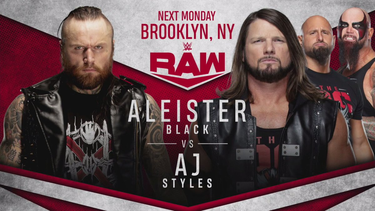 AJ Styles Vs. Aleister Black, Beth Phoenix Appearance, Tag Team Match Set For Next Week's RAW