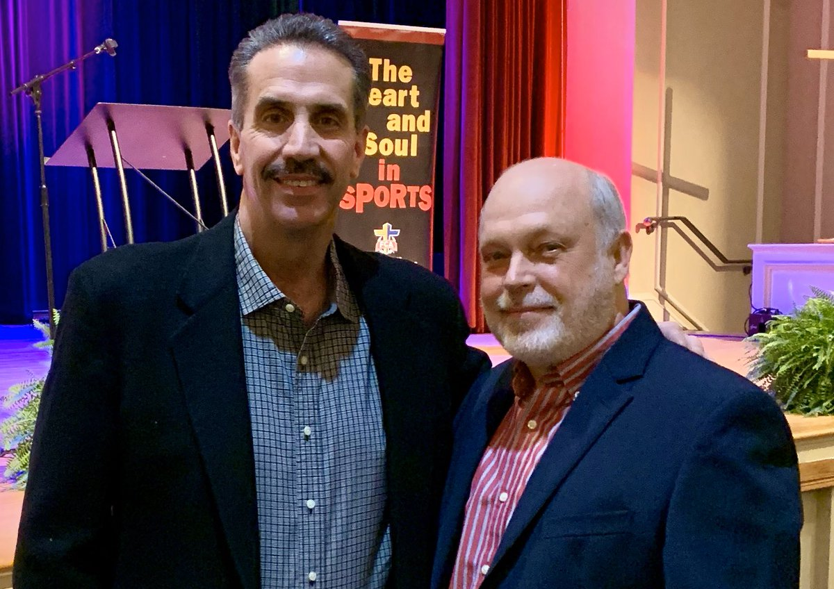 """It was my honor to MC the Fellowship of Christian Athletes, banquet. Former #Braves player, Sid Bream, was the speaker. He is a really nice guy, and his message touched my heart. """" In the end, the only thing that matters is, do we know Jesus."""" Thank you, Sid, for that reminder."""