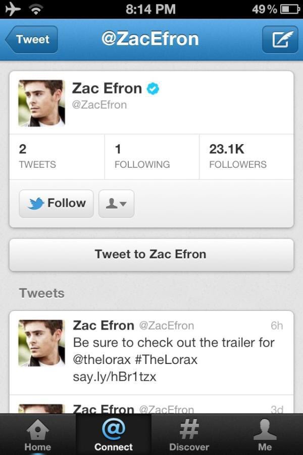 This day, in 2012, 8 years ago... @ZacEfron joined Twitter #blessedpic.twitter.com/Eqe11o843Z