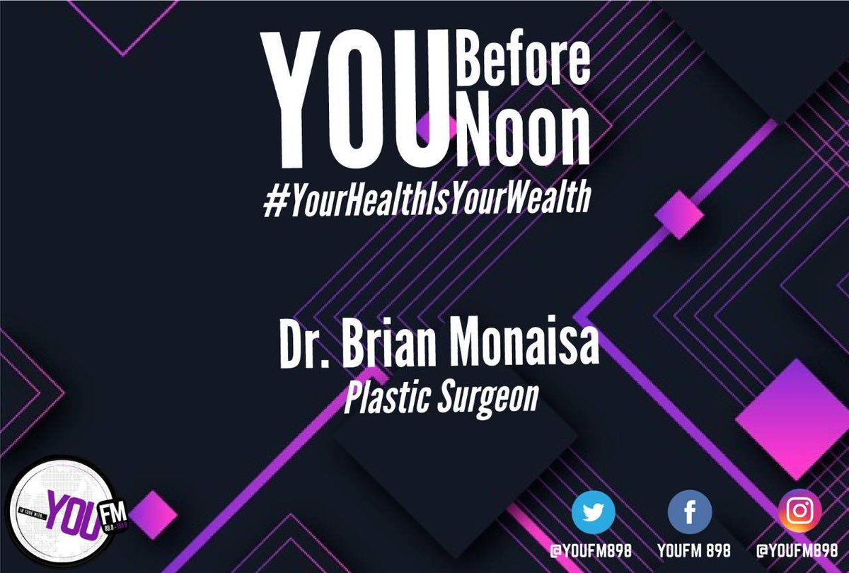 Get to know all about cosmetic surgery with Plastic Surgeon, Dr Brian Monaisa #YourHealthIsYourWealth  It's @BeestingBonolo on #YouBeforeNoon  DSTV Channel 842  #CelebratingYOU #YOUInspireUs