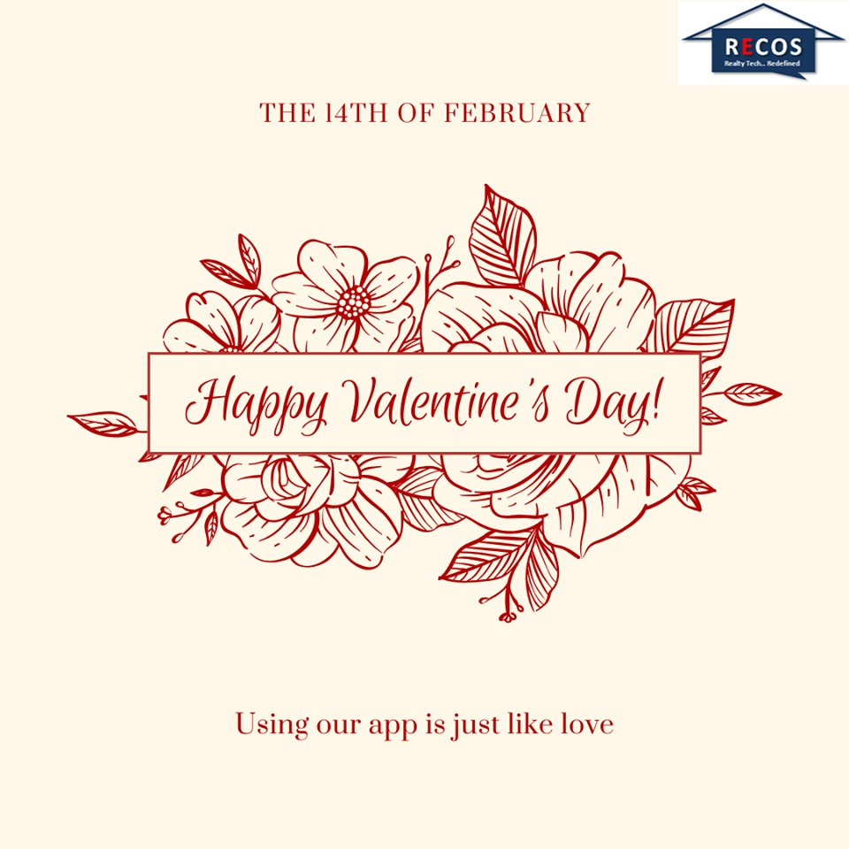 From Recos Team, we wish you and your loved ones a very happy Valentine's Day!  Our proptech app is just like love. ASK US HOW  #valentineday2020 #valentineday #fridaythoughts #fridayfeeling #fridaymotivation #RERA #Builders #Construction #RealEstate #recos #proptech #innovation