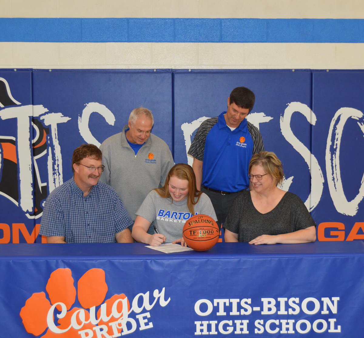 Congratulations to Cora Anderson with the signing to play basketball at Barton County College next year.