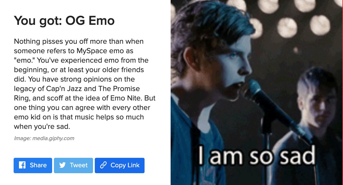 Damn right I'm an OG emo (but here for all kinds of emos)   https://www.buzzfeed.com/tatianatenreyrowhitlock/there-are-five-types-of-emos-which-one-are-you …pic.twitter.com/WqPMUy8mvg