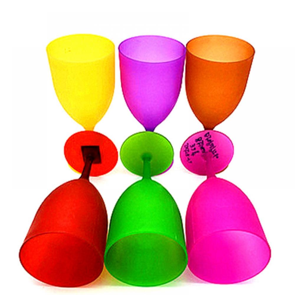 #nice #handmade Colorful Plastic Wine Glass