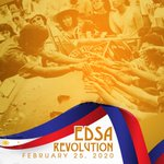 Image for the Tweet beginning: The EDSA People Power's Revolution