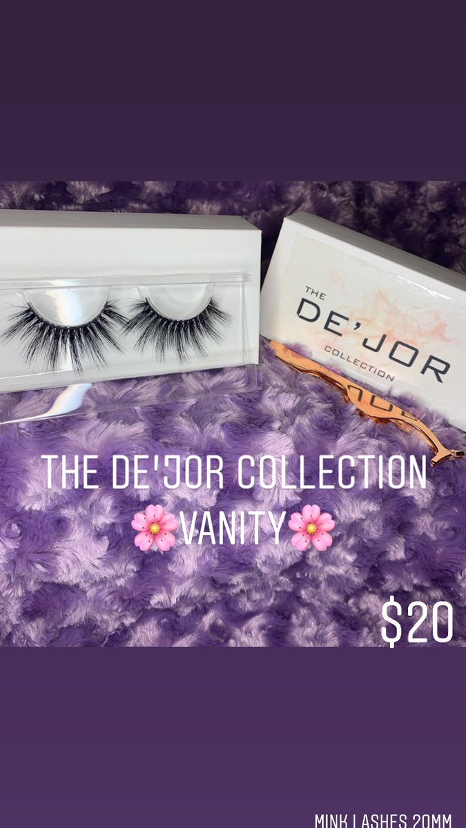 "Biggest Seller 😌🛍🤞🏾 Our ""Vanity"" #lashes #follow this Page for Updates and Sales on The De'Jor Collection Lashes #mink"