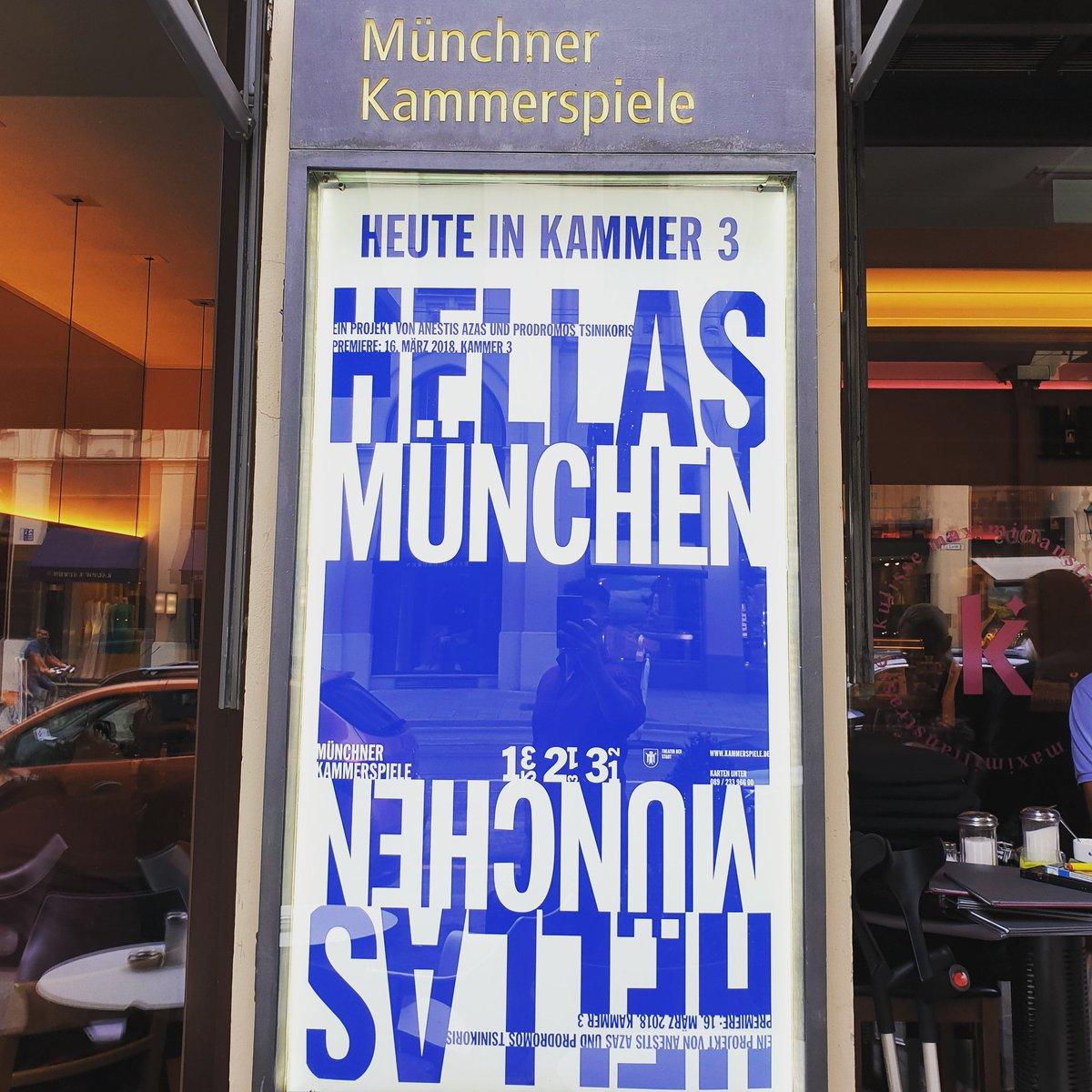 Hellas München ... heute in Kammer 3 um 20:00 Uhr...die letzten 3 Vorstellungen am 25.,26. und 27.02 @M_Kammerspiele   Tickets: https://bit.ly/34jxTAQ #munich #muenchen #münchenpic.twitter.com/cobSdVK33q – at Münchner Kammerspiele