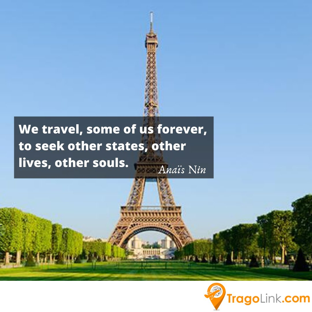 We #travel, some of us #forever, to #seek other #states, other #lives, other #souls