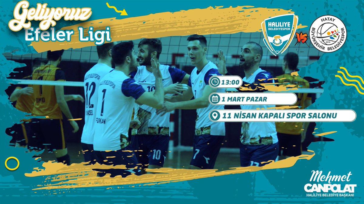 Maça Davet Türkiye Voleybol 1.Ligi   Haliliye Belediye Spor - Hatay B.Ş.B. Spor    1 Mart Pazar  13:00  11 Nisan Kapalı Spor Salonu  @mcanpolatnetpic.twitter.com/6lZP7sAIn2
