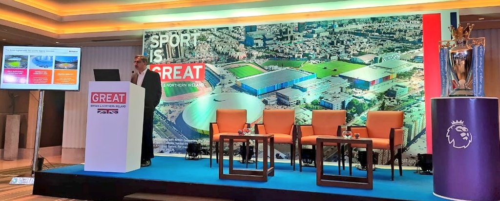 #IndUKSportsAlliance  A case study by @MainiPawan, India Country Manager @MaceGroup on how #infrastructure upgrades help in opening up new #revenue streams, with examples of #legacy projects for #London #Olympics @LondonStadium @SpursOfficial @TwickStadium @London2012