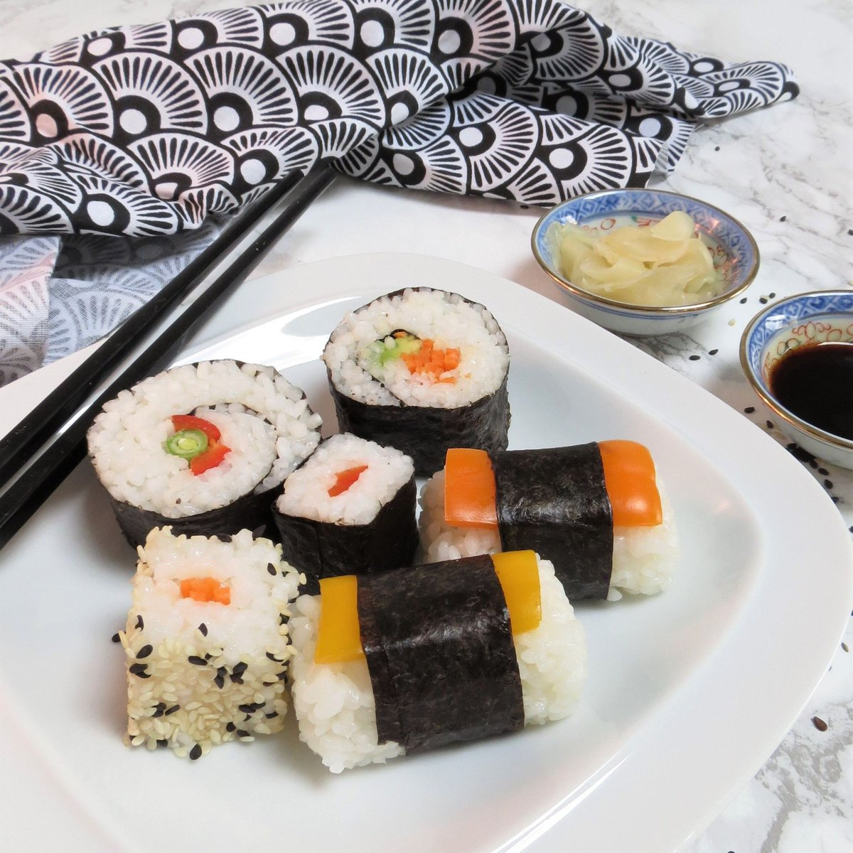 Trust me. If I can make it (short-fuse-woman) then you can too! Gluten Free Homemade Sushi; a step-by-step guide https://buff.ly/2L4ZocE  #vegan #glutenfree (perfect way to store is using @igluumealprep containers use CODE glutarama10 to get 10% off - not an ad or affiliation)