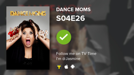 I've just watched episode S04E26 of Dance Moms! #dancemoms  #tvtime https://tvtime.com/r/1hUkSpic.twitter.com/E3VMPbUUQX