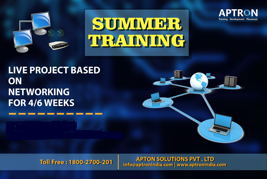 APTRON is a premier institute to providing #Networking #Summer #Training in #Delhi by hands-on real-time practical skills. Here you can also develop a hands-on learning experience by building numerous projects as a part of Networking summer programs.
