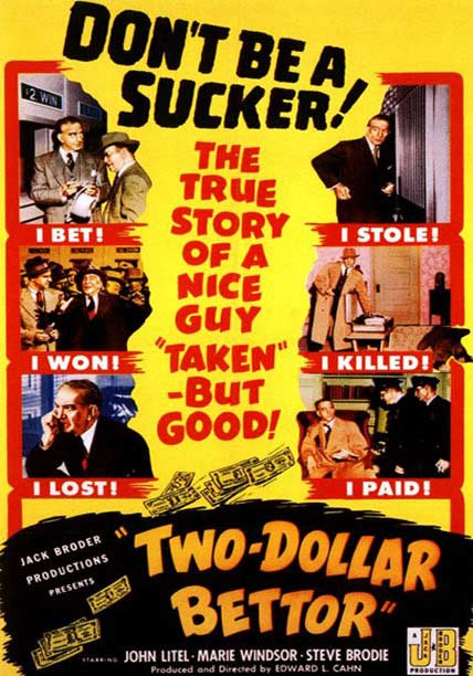 WATCH: Two Dollar Bettor (1951) http://bit.ly/1I5EwGn  #classic #movies