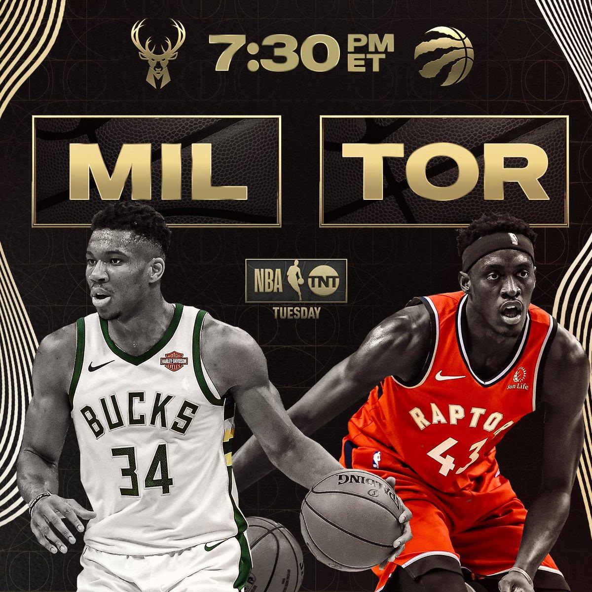We've got an exciting doubleheader tonight on TNT! 🍿 @Bucks vs. @Raptors // 7:30pm ET @PelicansNBA vs. @Lakers // 10pm ET