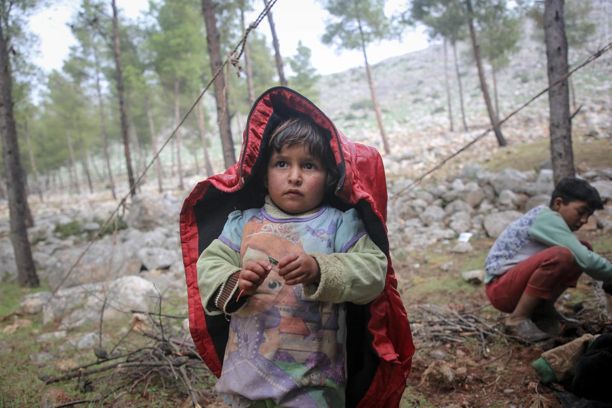 Almost 570,000 children have now been displaced by the escalation in violence in northwest Syria.   Many families have no option but to sleep in the open, exposed to the elements, putting vulnerable children at risk of hypothermia and respiratory tract infections,