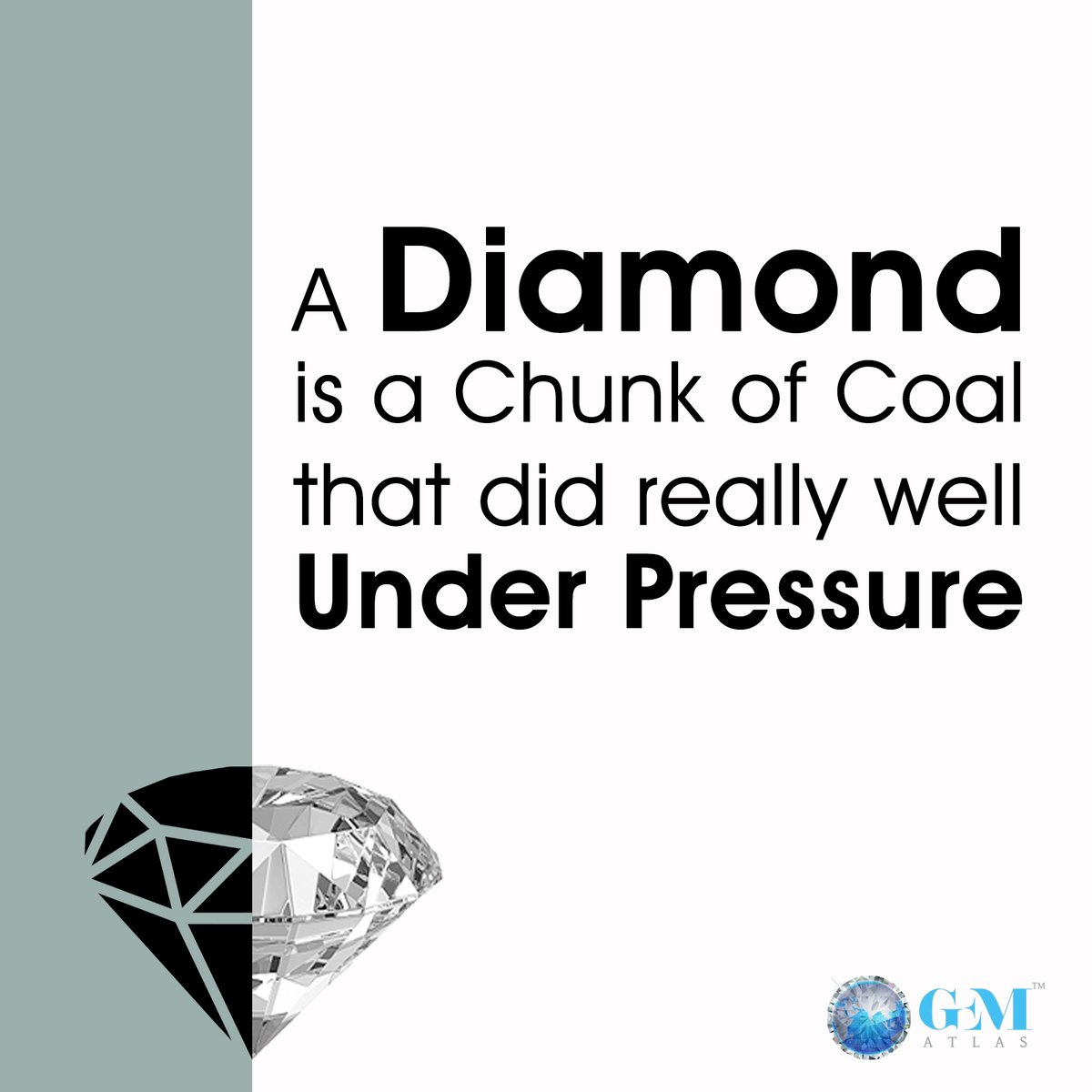 Pressure is a privilege it's what you do with it that matters.  #diamond #pressure #fact #factoftheday #didyouknow #follow #knowledge #facts #beautiful #instafact #jewellery #business #true #quotes #motivation #goals #life #inspiration #coal #underpressure #success #b #gematlas